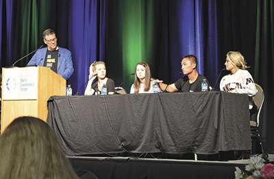 A member of the Gen Z panel explains his buying choices during the Dairy Experience Forum July 17 in St. Paul, Minn.