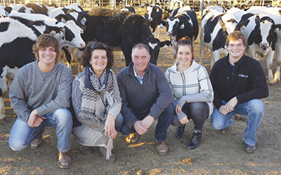 The van Bedaf family – (from left) Dries, Conny, Corne, Maartje Murphy and Piet – provides milk for Murphy's farmstead gelato business, Duchessa Gelato, which recently earned Murphy a spot on the Forbes 30 Under 30 list. PHOTO SUBMITTED